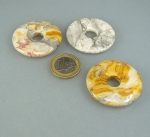 3er Set 40 mm Cracy Lace Achat - Donut Anhänger