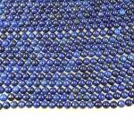 Lapislazuli Kugelstrang ( farblich behandelt ) ca. 8 mm / ca. 40 cm