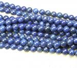 Lapislazuli Kugelstrang ( farblich behandelt ) ca. 10 mm / ca. 40 cm