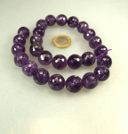 Amethyst Kugelstrang facettiert 16 mm / 40 cm