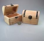 12er Set Schatzkiste klein - Pinienholz leer zum selbst befüllen