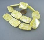 Lemon - Jade Rechteckstrang flach 25 x 35 mm / 40 cm