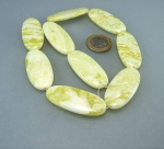Lemon - Jade Ovalstrang flach 20 x 45 mm / 40 cm
