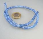 Achat blau gef. Bone mit Button - Strang 5-6 mm / 40 cm