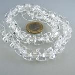 Bergkristall Horse-Eye Strang facettiert 5 x 12 mm / 40 cm