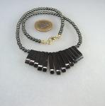 10 x Hämatin - Collier Cleopatra 45 cm mit Karabiner