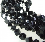 Onyx Würfelstrang diagonal 12 mm / 40 cm