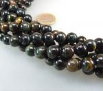 Onyx Rechteckstrang gewölbt 10 x 14 mm / 40 cm