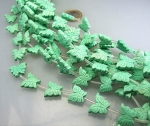 Magnesit grün (gef.) Schmetterlingstrang ca. 15 mm / 40 cm