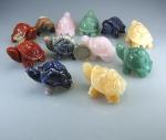 12er Schildkröten - Set im Steinmix 6 Sorten ca. 50 mm
